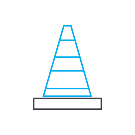 Repair works line icon, vector illustration. Repair works linear concept sign.