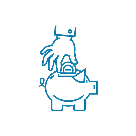 Reserve fund formation line icon, vector illustration. Reserve fund formation linear concept sign.