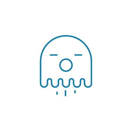 Retro games line icon, vector illustration. Retro games linear concept sign. Illustration