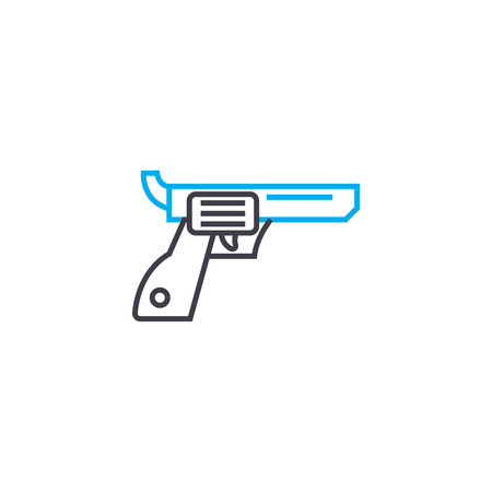 Revolver line icon, vector illustration. Revolver linear concept sign.