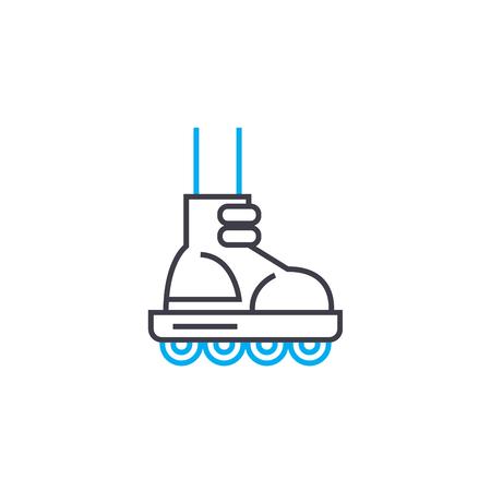 Roller skating line icon, vector illustration. Roller skating linear concept sign. Stock fotó - 102005823
