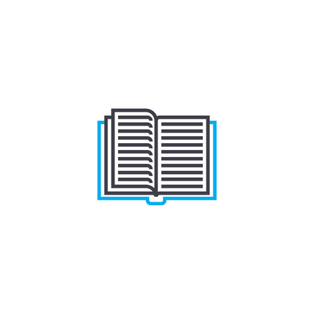 Reading fiction line icon, vector illustration. Reading fiction linear concept sign.