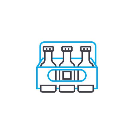 Refrigerator bag line icon, vector illustration. Refrigerator bag linear concept sign.  イラスト・ベクター素材