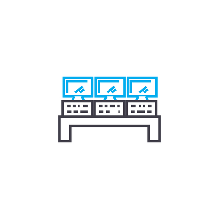 Remote control line icon, vector illustration. Remote control linear concept sign.