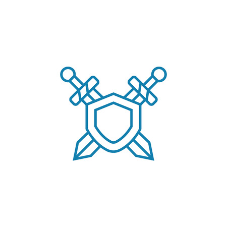 Safety measures line icon, vector illustration. Safety measures linear concept sign. Illustration