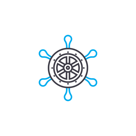 Sailing line icon, vector illustration. Sailing linear concept sign. Ilustração
