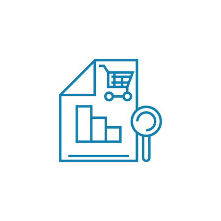 Sales analytics line icon, vector illustration. Sales analytics linear concept sign. Illustration