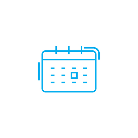 Scheduling events line icon, vector illustration. Scheduling events linear concept sign. Standard-Bild - 101975945