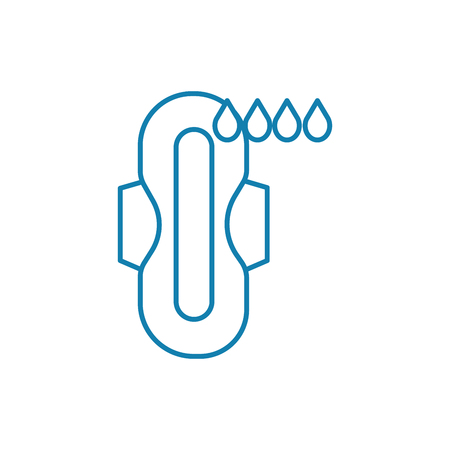 Sanitary pads line icon, vector illustration. Sanitary pads linear concept sign.