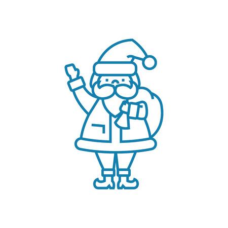 Santa claus line icon, vector illustration. Santa claus linear concept sign. Illustration