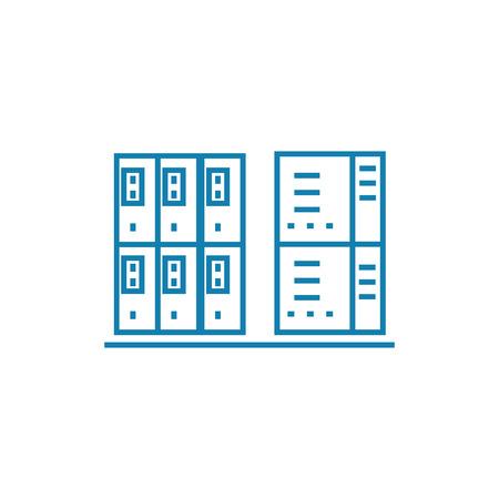 Server box line icon, vector illustration. Server box linear concept sign.