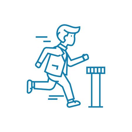 Sense of purpose line icon, vector illustration. Sense of purpose linear concept sign.