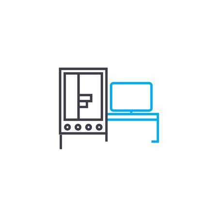Server it room line icon, vector illustration. Server it room linear concept sign.