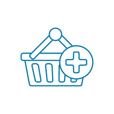 Shopping line icon, vector illustration. Shopping linear concept sign.