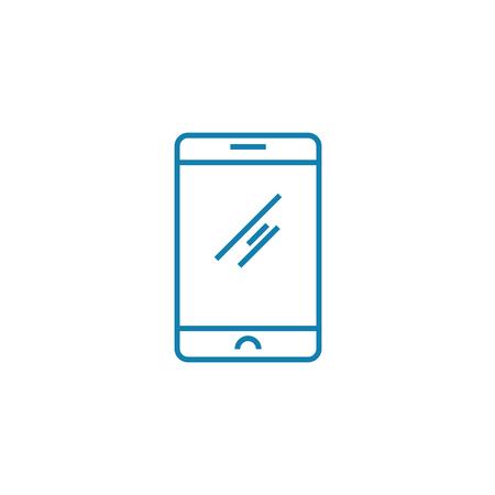 Smartphone line icon, vector illustration. Smartphone linear concept sign. Vettoriali