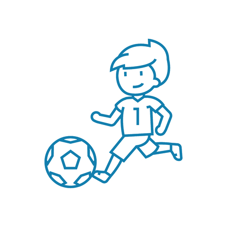 Soccer competitions line icon, vector illustration. Soccer competitions linear concept sign.