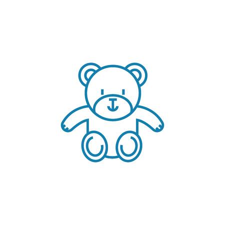 Soft toy line icon, vector illustration. Soft toy linear concept sign.