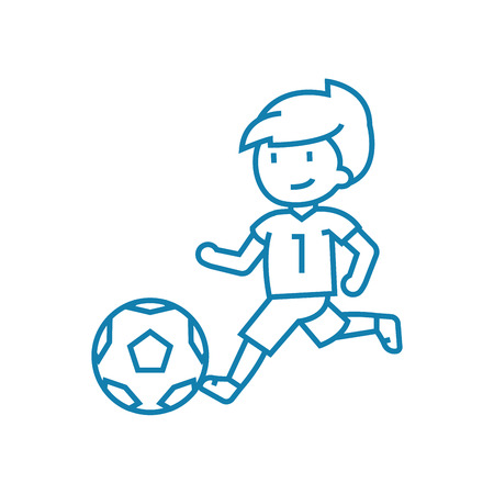 Soccer championship line icon, vector illustration. Soccer championship linear concept sign.
