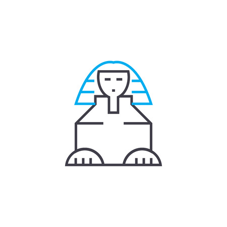 Sphinx line icon, vector illustration. Sphinx linear concept sign. 版權商用圖片 - 101976014
