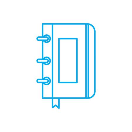 Spiral notebook line icon, vector illustration. Spiral notebook linear concept sign. Illustration