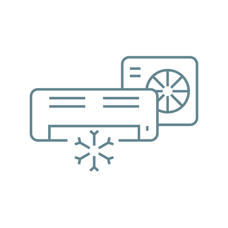 Split system line icon, vector illustration. Split system linear concept sign.