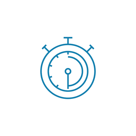 Sports stopwatch line icon, vector illustration. Sports stopwatch linear concept sign.