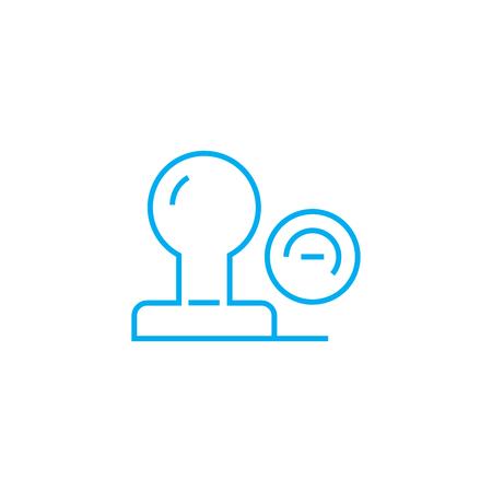 Stamp line icon, vector illustration. Stamp linear concept sign.