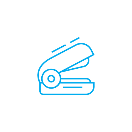 Stapler line icon, vector illustration. Stapler linear concept sign.