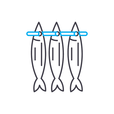Stockfish line icon, vector illustration. Stockfish linear concept sign.