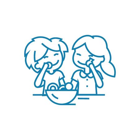 Sweeties for children line icon, vector illustration. Sweeties for children linear concept sign.
