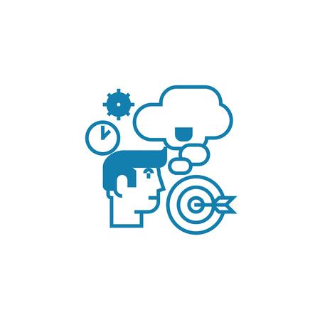 Strategic planning line icon, vector illustration. Strategic planning linear concept sign. Illustration