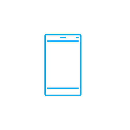 Tablet flagship line icon, vector illustration. Tablet flagship linear concept sign.