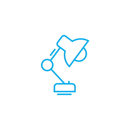 Table lamp line icon, vector illustration. Table lamp linear concept sign.