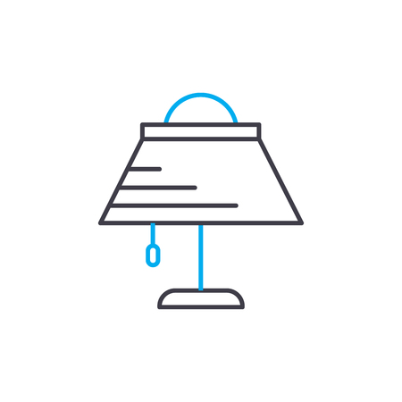 Table lampshade line icon, vector illustration. Table lampshade linear concept sign.