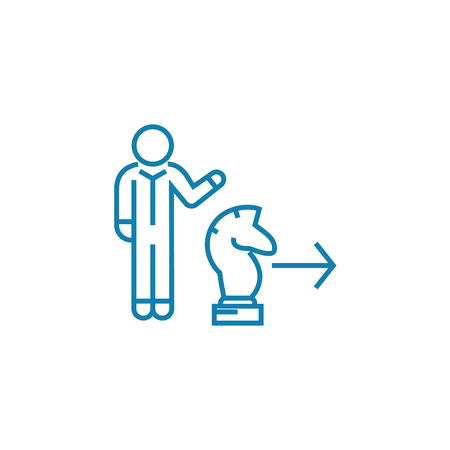 Tactical move line icon, vector illustration. Tactical move linear concept sign.