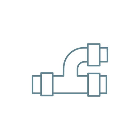 Tee pipe line icon, vector illustration. Tee pipe linear concept sign.