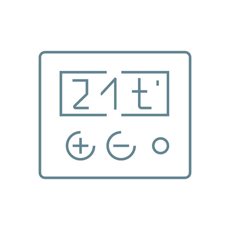 Temperature adjustment line icon, vector illustration. Temperature adjustment linear concept sign.