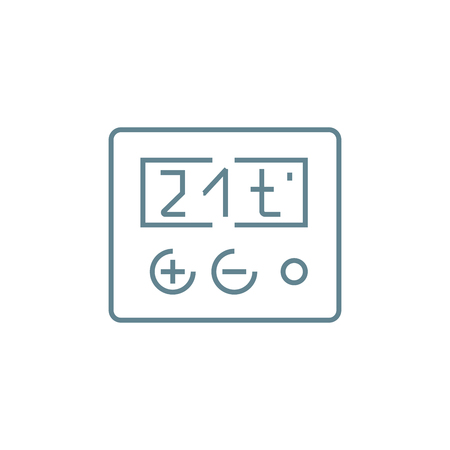 Temperature setting line icon, vector illustration. Temperature setting linear concept sign. Ilustracja