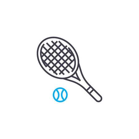 Tennis line icon, vector illustration. Tennis linear concept sign.