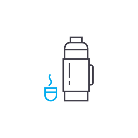 Thermos line icon, vector illustration. Thermos linear concept sign.