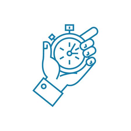 Tight deadlines line icon, vector illustration. Tight deadlines linear concept sign. Banco de Imagens - 102006122