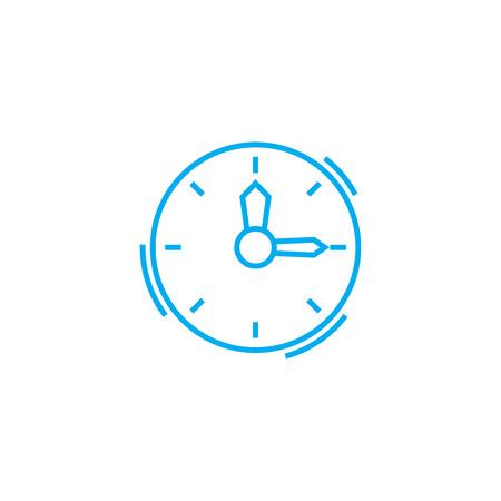 Time management line icon, vector illustration. Time management linear concept sign.