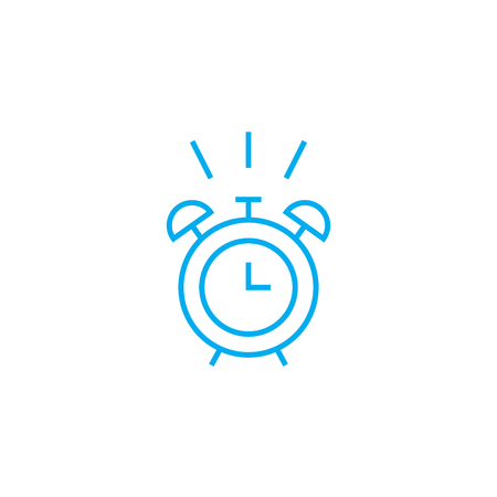 Time to wake up line icon, vector illustration. Time to wake up linear concept sign.