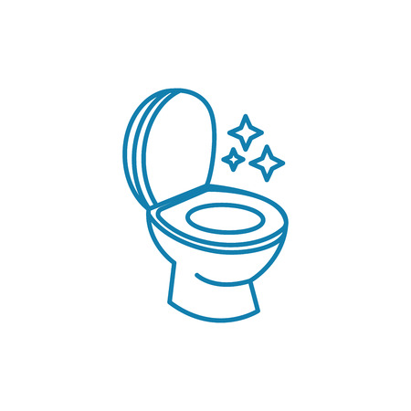 Toilet hygiene line icon, vector illustration. Toilet hygiene linear concept sign.