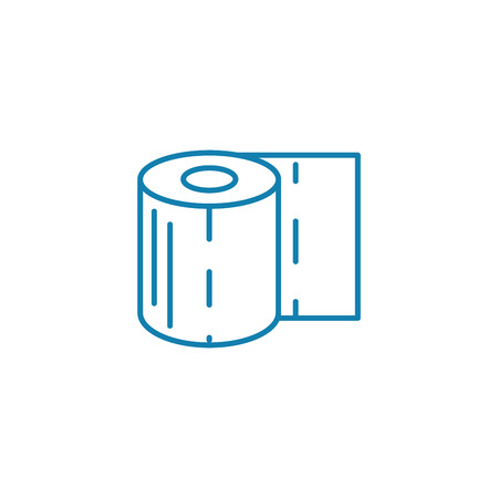 Toilet paper line icon, vector illustration. Toilet paper linear concept sign.