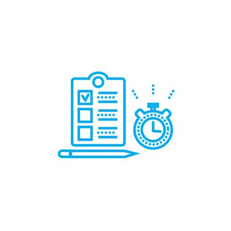 Timing for tasks line icon, vector illustration. Timing for tasks linear concept sign.