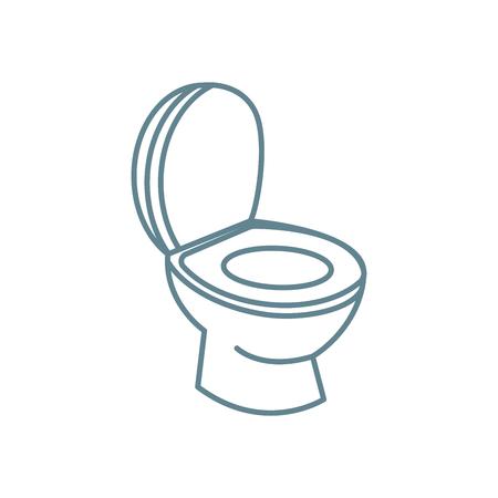 Toilet bowl line icon, vector illustration. Toilet bowl linear concept sign. Illustration
