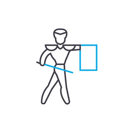 Toreador line icon, vector illustration. Toreador linear concept sign. Illustration