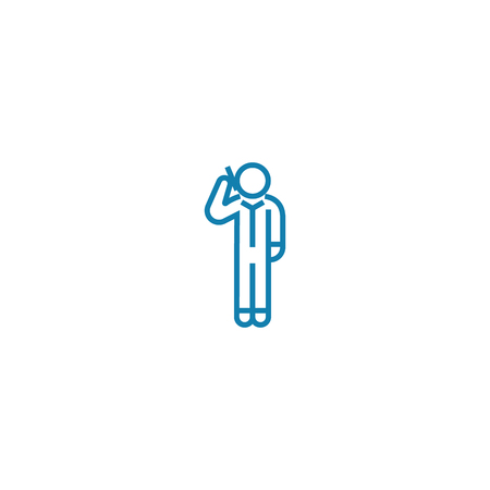 Total disarray line icon, vector illustration. Total disarray linear concept sign.