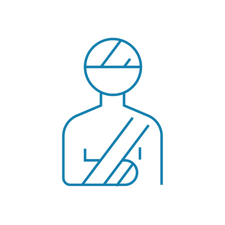 Traumatology department line icon, vector illustration. Traumatology department linear concept sign.